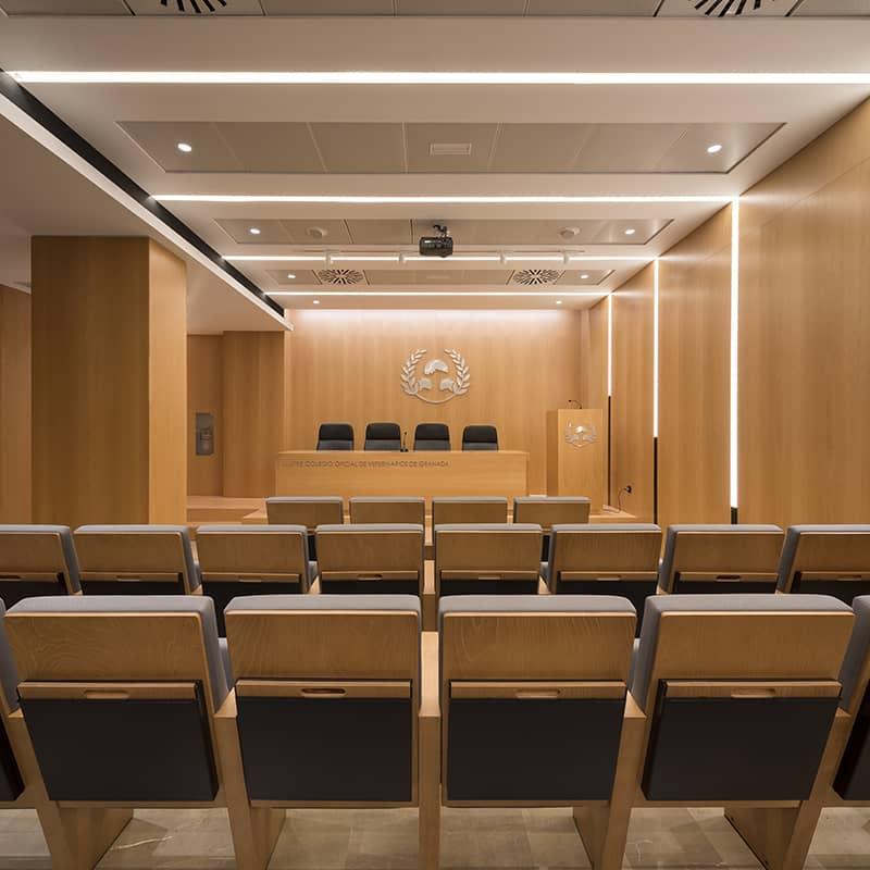 Iluminacion-oficinas-colegio-vet-malaga